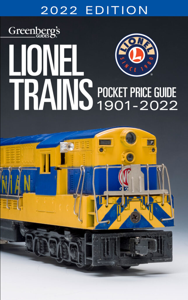 Lionel Trains Pocket Price Guide 1901-2022 available at the Kalmbach Hobby Store.