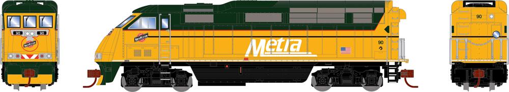 Metra Electro-Motive Division F59PHI diesel locomotive