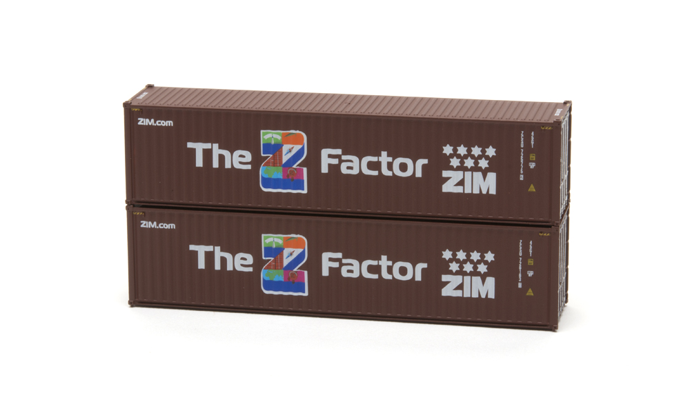 ZIM 40-foot high-cube intermodal container