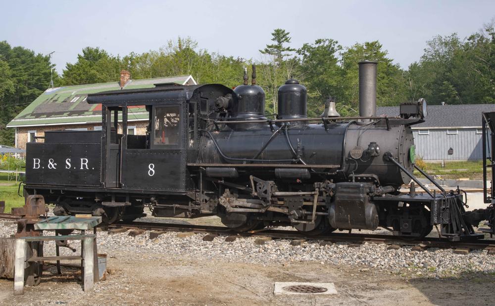 Small black steam locomotive