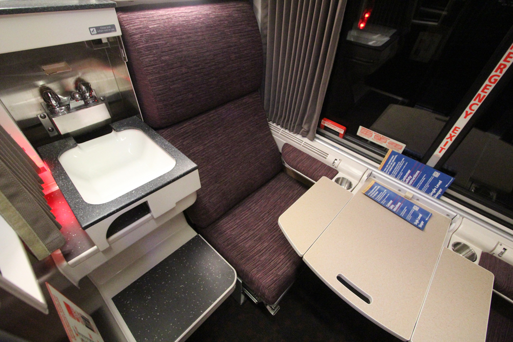 Room in Amtrak sleeping car