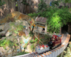 A scene from the Aggie garden railway with dry creek