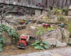 A scene from the Aggie garden railway with quarry