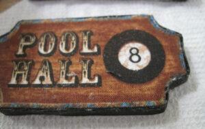 Pool hall sign