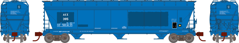 The Andersons Inc. Primed for Grime 4,600-cubic-foot capacity three-bay Center Flow covered hopper.