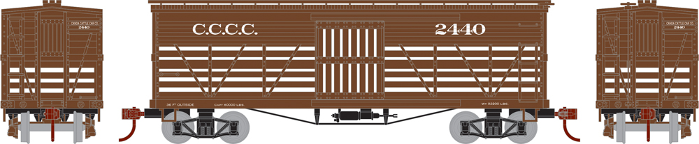 Canada Cattle Car Co. 36-foot old-time stockcar.
