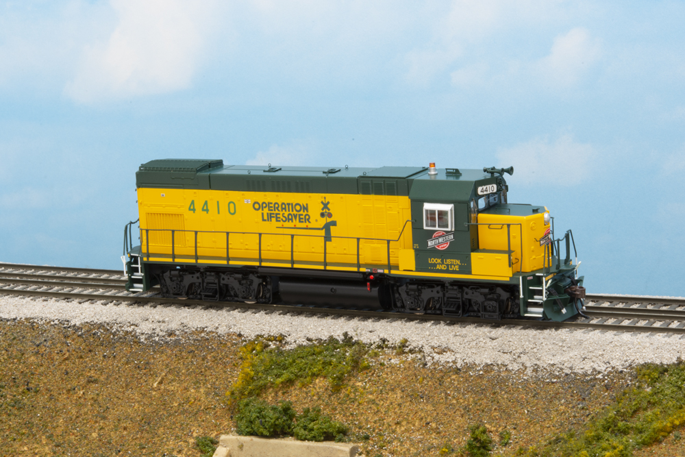 Chicago & North Western Electro-Motive Division GP15-1 diesel locomotive.