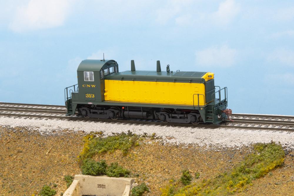 Chicago & North Western Electro-Motive Division SW1200 diesel locomotive.