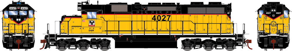 Dakota & Iowa Electro-Motive Division SD39 diesel locomotive.