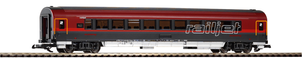 Railjet second class coach.