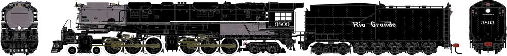 Rio Grande Western 4-6-6-4 Challenger steam locomotive.