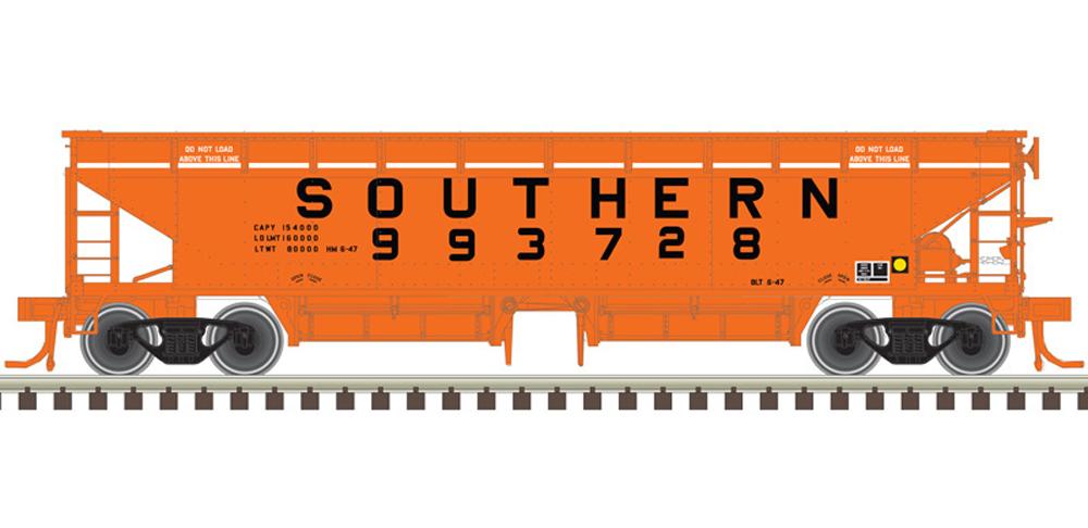 Southern 70-ton Hart ballast car.