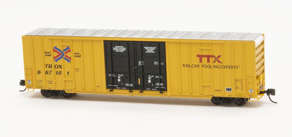 TTX 60-foot high-cube double-plug-door boxcar