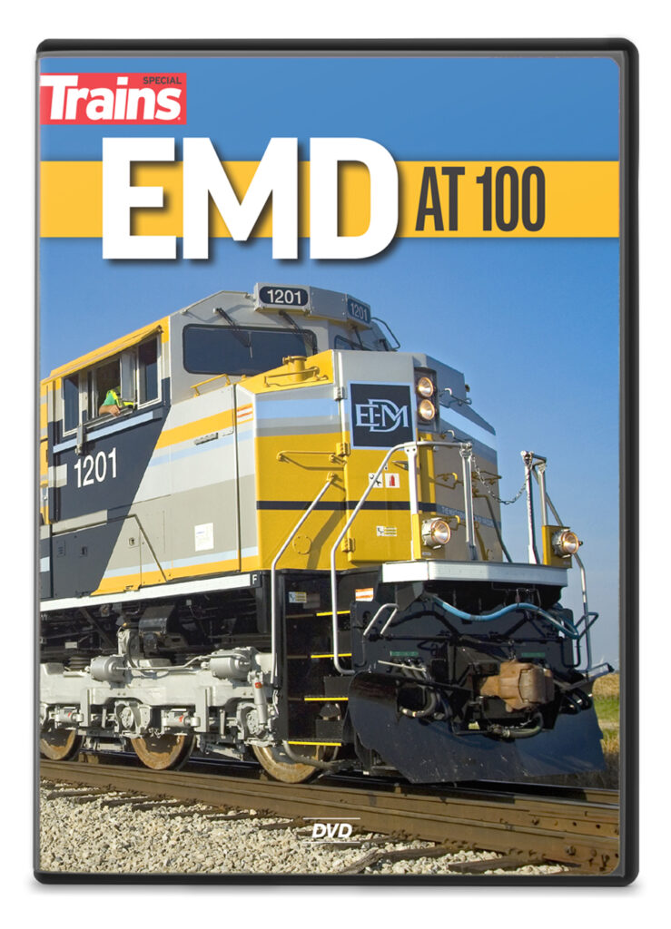 Trains magazine EMD at 100 DVD available at the Kalmbach Hobby Store.