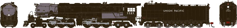 Union Pacific 4-6-6-4 Challenger steam locomotive.