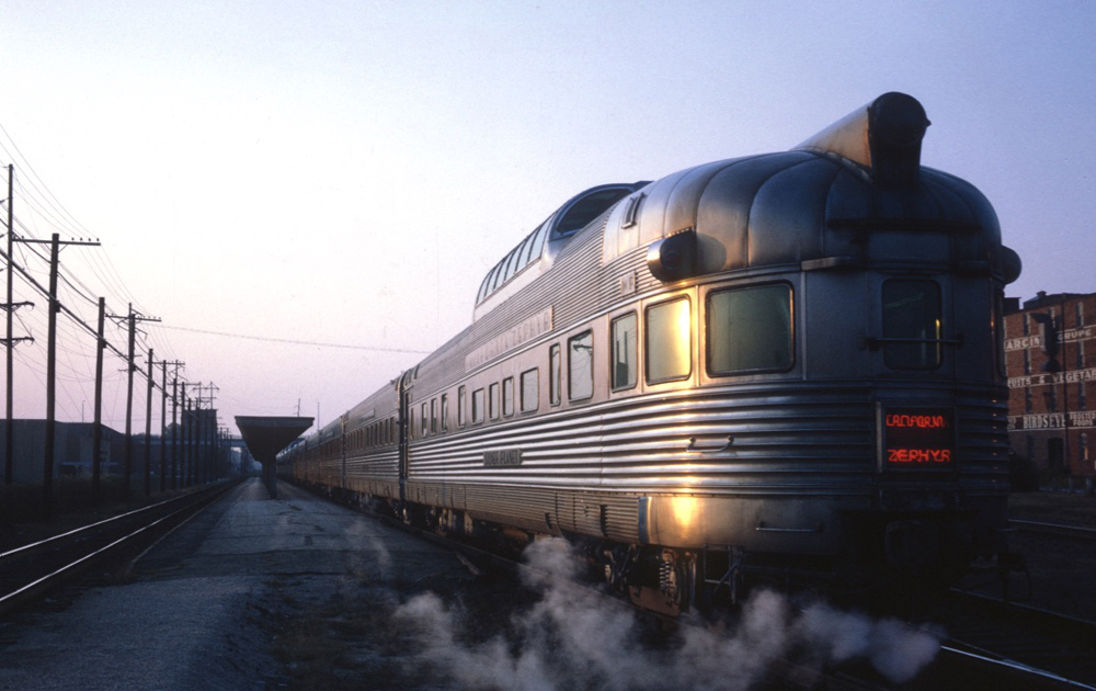 Stainless steel round-end dome-observation car