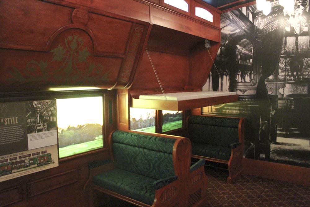 Recreation of inside of early sleeping car
