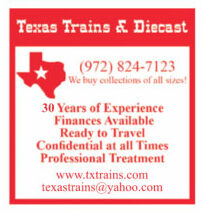 Ad for a train collector-dealer