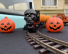 Halloween train on gauge-1 track