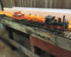 A large-scale Halloween model train