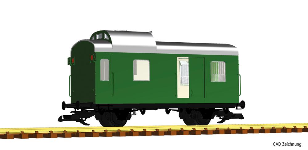 America Deutsche Reichsbahn two-axle luggage wagon.