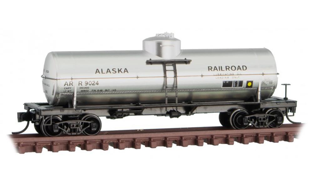 Alaska RR 39-foot single-dome tank car.