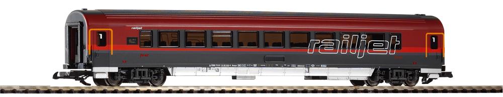 Austrian Federal Rys. Railjet first-class coach.