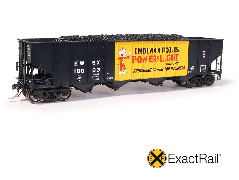Indianapolis Power & Light Bethlehem 3,737-cubic-foot capacity four-bay covered hopper.
