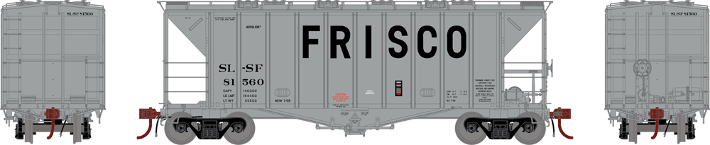 Frisco 2,600-cubic-foot capacity Airslide covered hopper.