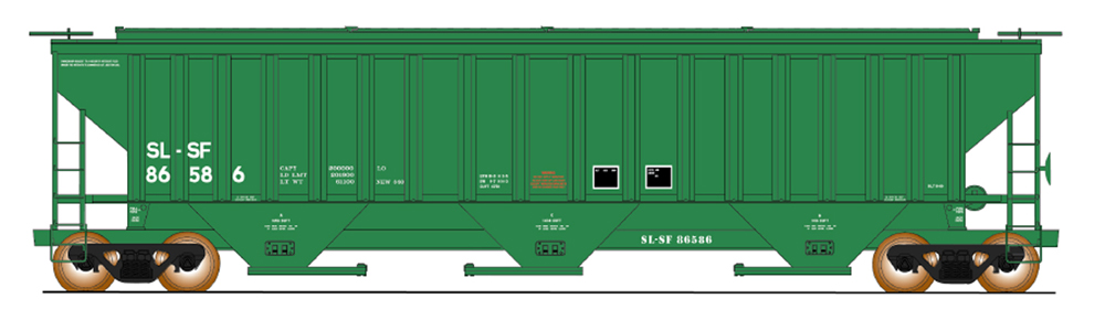 Frisco 4,750-cubic-foot capacity three-bay covered hopper.