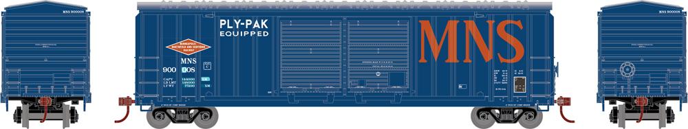 Minneapolis, Northfield & Southern Railway 5,283-cubic-foot capacity double-door boxcar.