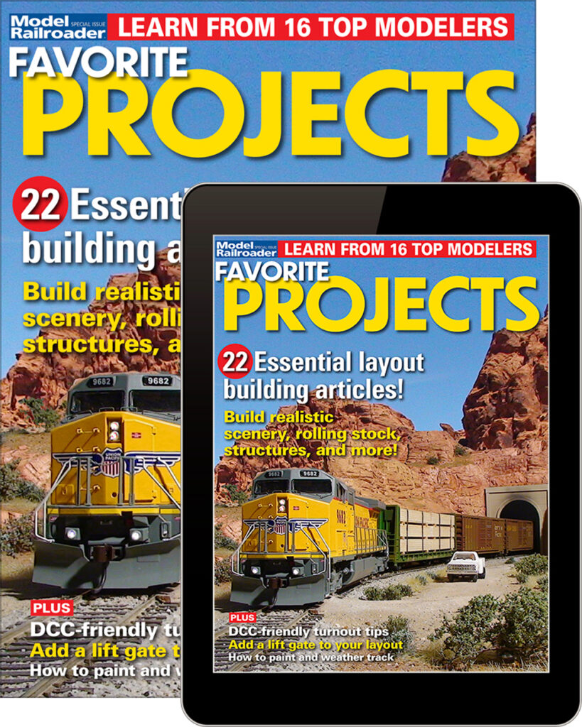 Model Railroader Favorite Projects available at the Kalmbach Hobby Store.
