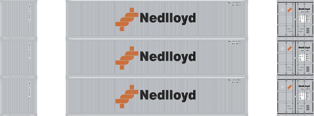 Nedlloyd 40-foot low-cube intermodal container.
