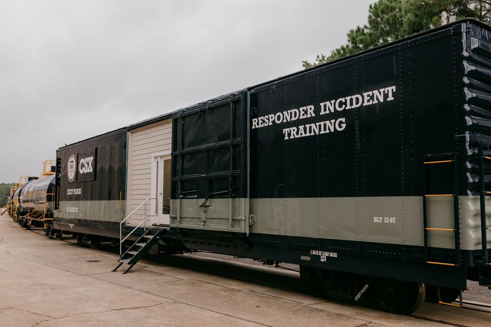 Black and gray boxcar