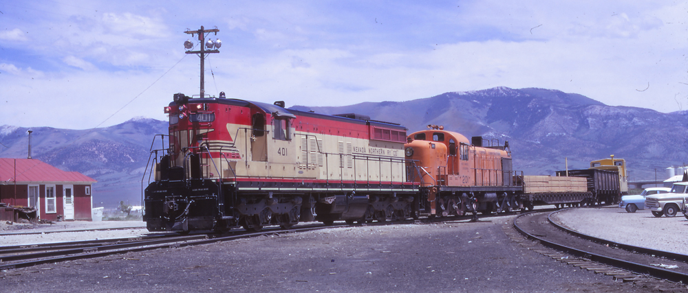 EMD and Alco diesels on freight train