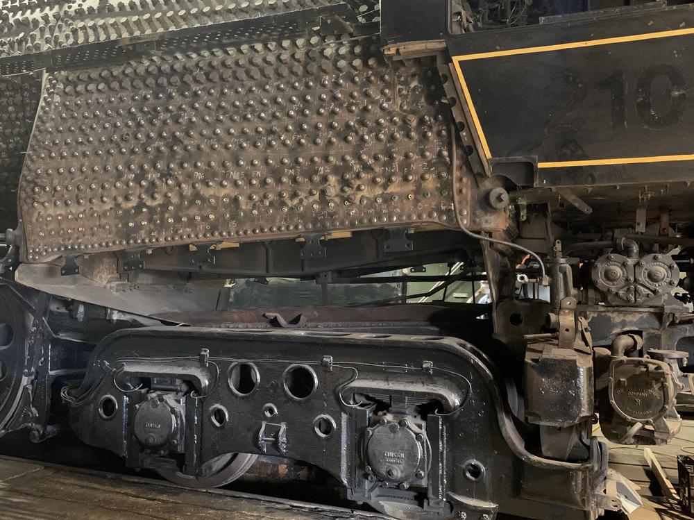 Exterior of steam locomotive firebox