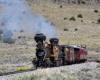 Double-headed steam passenger train.